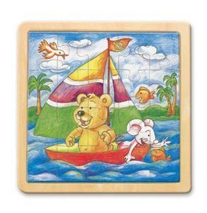 Puzzle na desce - medvěd s myškou -Oli & Lea cena od 59 Kč