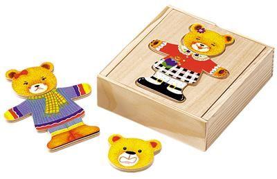 Eichhorn Dřevěná skládačka medvídě - holčička cena od 0 Kč