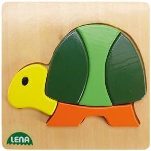 LENA - Dřevěné puzzle, želva cena od 99 Kč