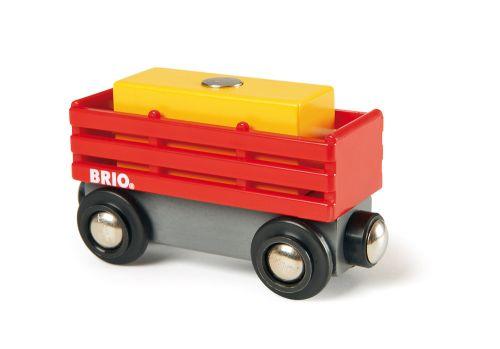 Brio Červený vagón se žlutým nákladem cena od 204 Kč