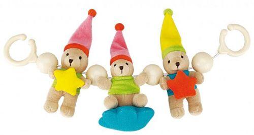 Canpol babies plyšové chrastítko do kočárku medvídci s hvězdičkou cena od 185 Kč