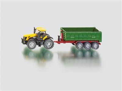 SIKU Farmer - Traktor JCB Fasttrac 8250 s kontejnerovým přívěsem cena od 228 Kč