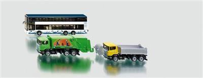 SIKU Super - City set, autobus, sklápěčka a popelářské auto cena od 465 Kč