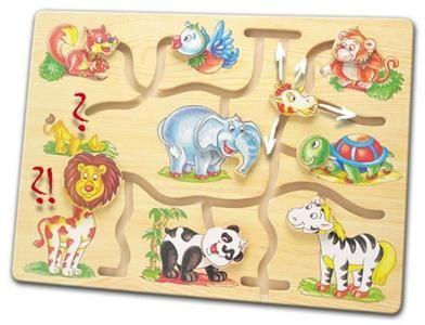 Motorický labyrint- Najdi hlavu zvířátka - Africa cena od 185 Kč