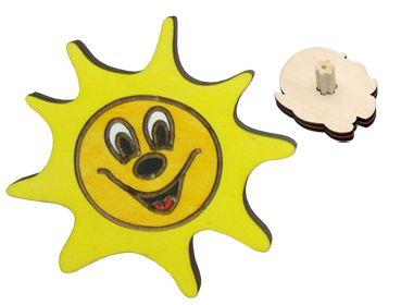 DODO Nábytková úchytka - Sluníčko cena od 40 Kč