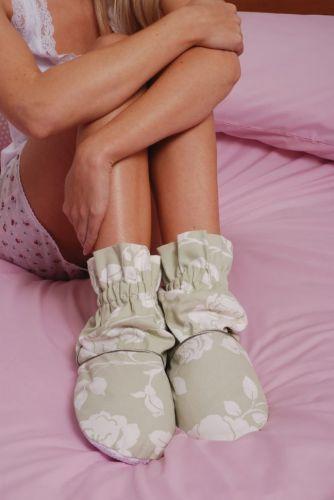 AROMA HOME Ponožkové bačkory hřejivé s kvítky