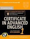 Cambridge University Press Cambridge Certificate in Advanced English 1 Self-Study Pack (Student´s Book with answers and Audio CDs (2)) cena od 655 Kč