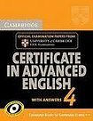 XXL obrazek Cambridge University Press Cambridge Certificate in Advanced English 4 Student´s Book with Answers