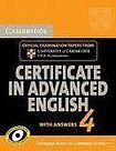 Cambridge University Press Cambridge Certificate in Advanced English 4 Student´s Book with Answers cena od 0 Kč