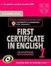 Cambridge University Press Cambridge First Certificate in English 1 for updated exam Self-study Pack (Student´s Book with answers and Audio CDs (2)) cena od 655 Kč