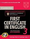 Cambridge University Press Cambridge First Certificate in English 3 for updated exam Self-study Pack (Student´s Book with answers and Audio CDs (2)) cena od 639 Kč