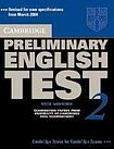 XXL obrazek Cambridge University Press Cambridge Preliminary English Test 2 Student´s Book with answers