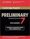 XXL obrazek Cambridge University Press Cambridge Preliminary English Test PET 7 Student´s Book with answers
