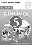 Cambridge University Press Cambridge Young Learners English Tests Starters 5 Answer Booklet cena od 64 Kč