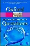 Oxford University Press CONCISE OXFORD DICTIONARY OF QUOTATIONS 7th Edition cena od 235 Kč