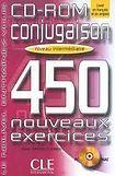 CLE International CONJUGAISON 450 NOUVEAUX EXERCICES: NIVEAU INTERMEDIAIRE CD-ROM cena od 377 Kč