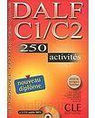 CLE International DALF C1/C2 NOUVEAU DIPLOME LIVRET DE CORRIGES + CD AUDIO: 250 activites cena od 552 Kč