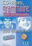 CLE International GRAMMAIRE POUR ADOLESCENTS 250 EXERCICES: NIVEAU DEBUTANT CD-ROM cena od 408 Kč