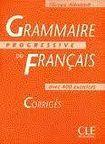 CLE International GRAMMAIRE PROGRESSIVE DU FRANCAIS: NIVEAU DEBUTANT - CORRIGES cena od 184 Kč