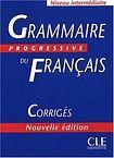 CLE International GRAMMAIRE PROGRESSIVE DU FRANCAIS: NIVEAU INTERMEDIAIRE - CORRIGES cena od 222 Kč