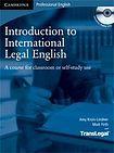 Cambridge University Press Introduction to International Legal English Student´s Book with Audio CDs (2) cena od 684 Kč