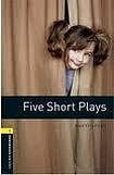 Oxford University Press New Oxford Bookworms Library 1 Five Short Plays Playscript cena od 92 Kč