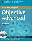 Cambridge University Press Objective Advanced 3rd edition Workbook without answers with Audio CD cena od 308 Kč