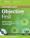 Cambridge University Press Objective First 3rd edition Teacher´s Book with Teacher´s Resources Audio CD/CD-ROM cena od 655 Kč