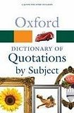 Oxford University Press OXFORD DICTIONARY OF QUOTATIONS BY SUBJECT 2nd Edition cena od 264 Kč