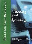 Macmillan SKILLS FOR FIRST CERTIFICATE Listening and Speaking Student´s Book cena od 416 Kč