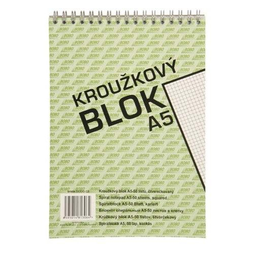 Bobo Kroužkový blok A5 čtverečky