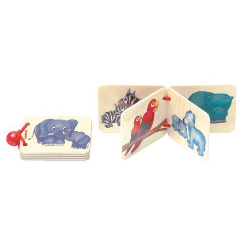 Dřevěná knížka - zvířata a mláďata cena od 112 Kč