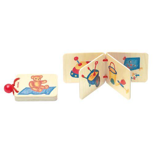 Dřevěná knížka - hračky
