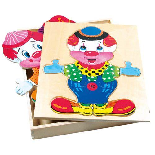 Puzzle šatní skříň velká - klaun cena od 124 Kč