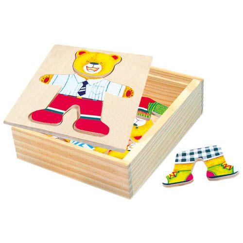 Puzzle - šatní skříň - medvídek cena od 119 Kč
