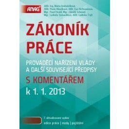 Mária Andraščíková: Zákoník práce s komentářem k 1. 1. 2013 cena od 668 Kč
