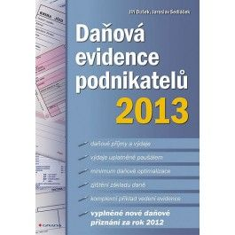 Daňová evidence podnikatelů 2013 cena od 169 Kč