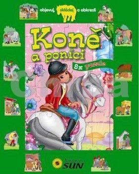 Koně a poníci 8x puzzle cena od 128 Kč