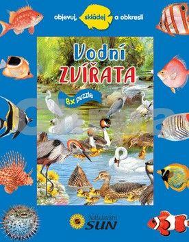 Trujillo Eudardo: Vodní zvířata - 8 puzzle - Objevuj, skládej a obkresli cena od 120 Kč