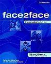Cambridge University Press face2face Pre-Intermediate Teacher´s Book cena od 725 Kč