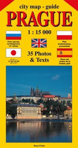 Jiří Beneš: City map - guide PRAGUE 1:15 000 (angličtina, ruština, španělština, polština, japonština) cena od 35 Kč