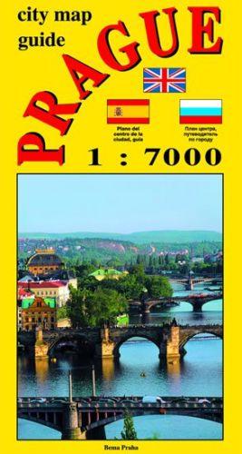 Jiří Beneš: City map - guide PRAGUE 1:7 000 (angličtina, ruština, španělština) cena od 30 Kč