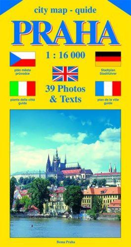 Jiří Beneš: City map - guide PRAHA 1:16 000 (čeština, angličtina, italština, němčina, francozština) cena od 40 Kč