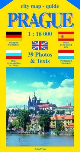 Jiří Beneš: City map - guide PRAGUE 1:16 000 (angličtina, němčina, ruština, španělština, holandština) cena od 40 Kč