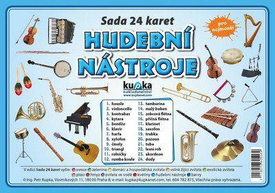 Kupka a  Petr: Hudební nástroje - Sada 24 karet cena od 55 Kč