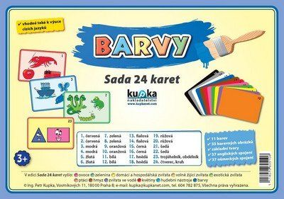 Kupka a Petr: Barvy - Sada 24 karet cena od 58 Kč