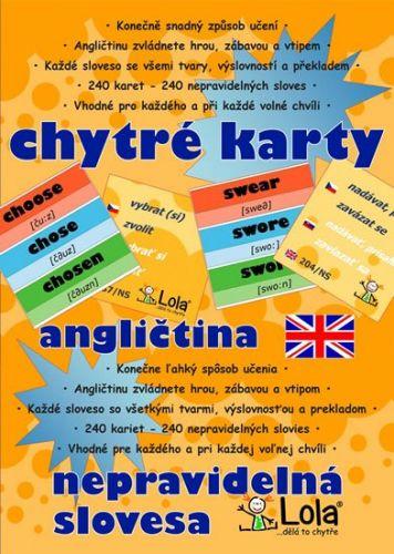 Chytré karty - Angličtina nepravidelná slovesa cena od 96 Kč