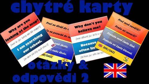Chytré karty - Angličtina otázky a odpovědi 2 cena od 107 Kč
