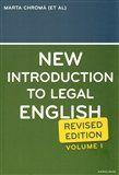 Sean W. Davidson, Marta Chromá, Jana Dvořáková: NEW INTRODUCTION TO LEGAL ENGLISH cena od 261 Kč