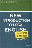 Sean W. Davidson, Marta Chromá, Jana Dvořáková: New Introduction to Legal English II. cena od 284 Kč